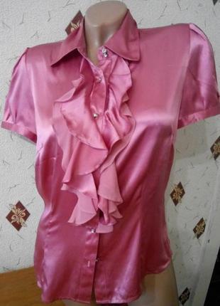 Блуза с жабо шёлк  100 %