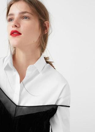 Новая велюровая топ блуза кофточка на бретелях mango4 фото