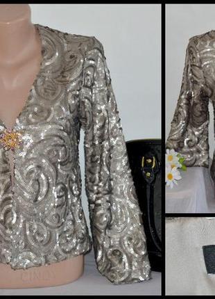 Стильная красивая накидка пиджак паетки warehouse румыния