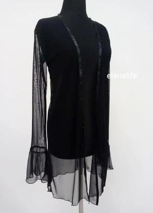 Халат прозрачный черный livia corsetti monelita