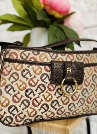 Винтажная сумка, брендовая сумка aigner