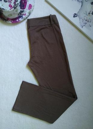 Коричневые стильные штаны брюки кюлоты zara на высокой посадке