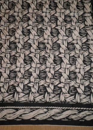 Классический винтажный платок плотный саржевый шелк 68х68см шов роуль