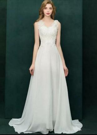 Свадебное платье шлейф