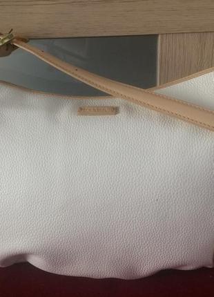 Louvier paris очень красивая изящная сумочка натуральная кожа