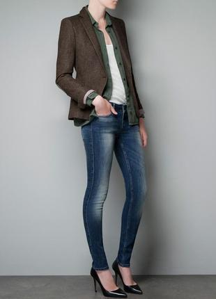 Фирменный пиджак zara, размер s