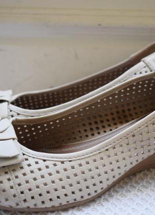 Кожаные туфли балетки лодочки тамарис tamaris р.42 27,2 см