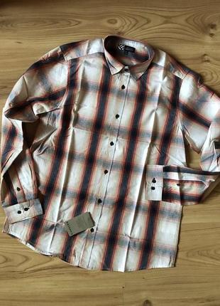 Мужская клетчатая рубашка на длинный рукав watsons, 100% органик хлопок