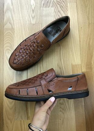 Кожаные туфли босоножки rieker ecco clarks
