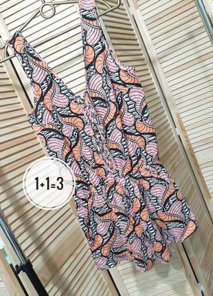 Gina tricot стильный ромпер s комбинезон короткий шорты принт узор карманы
