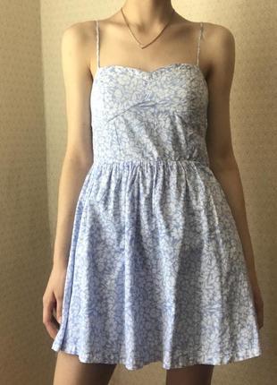 Сарафан с цветочками платье