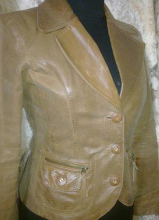 Пиджак vero moda, германия 100%кожа, s раз.