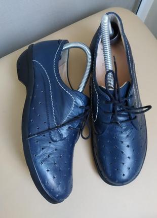 38 o. кожаные комфортные туфли мокасины ladysko