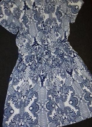 Фирменное платье в принт пейсли бута этно в стиле под винтаж прованс