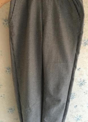 Штаны брюки в клетку клетчатые гусиная лапка