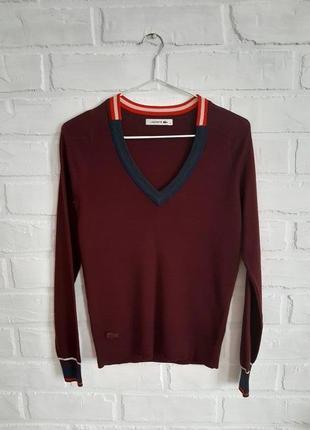 Мягкий шерстяной свитер lacoste