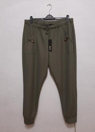 """Стильные модные брюки """" хаки """" большого размера"""