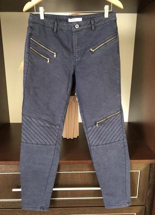Базові штани темно-сині від zara