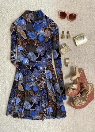 Яркое нарядное платье в цветочный принт №313max