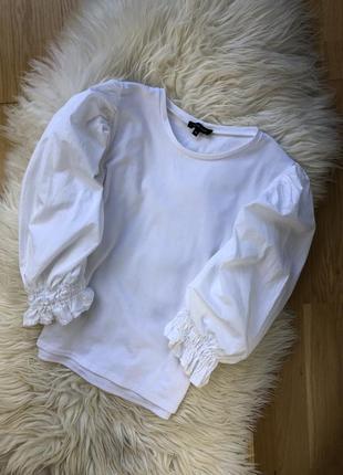 Трендова кофта блуза з обємними рукавами new look