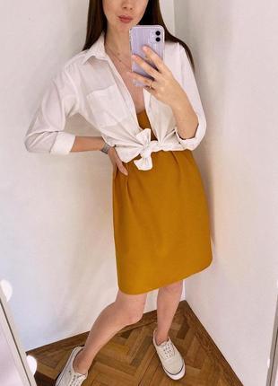 Гірчична сукня на бретелях missguided
