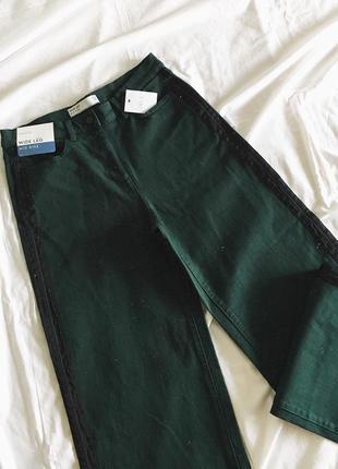 Нові джинси з лампасами від next(прямий крій, до низу трішки розширені)  якістний джинс