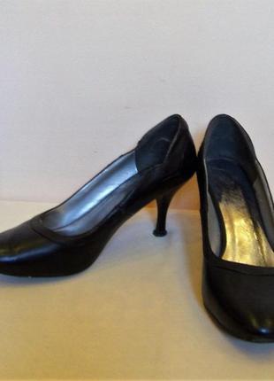 """Классические черные туфли """"stefani"""", размер 37"""