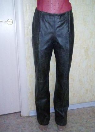 Эксклюзив!оригинальные брюки из 100 % мраморной кожи / кожаные брюки/ брюки/штаны