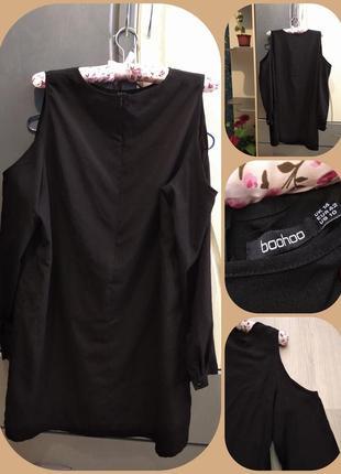 Брендовая туника платье boohoo