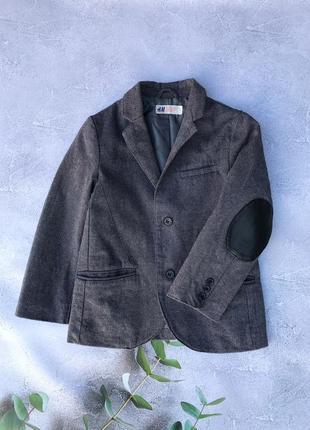 Офигенный пиджак  h&m 4-5 лет., без следов носки ✔️