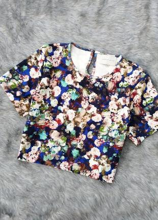 Топ блуза кофточка с цветочным принтом lavish alice