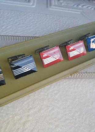Набор запонок минский завод ссср антиквариат ретро винтаж запонки
