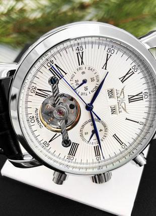 Мужские часы | классические часы jaragar 540 black-silver-white