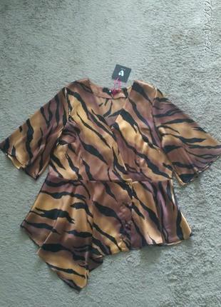 Новая блуза кофточка тигровой расцветки  by very  р.18