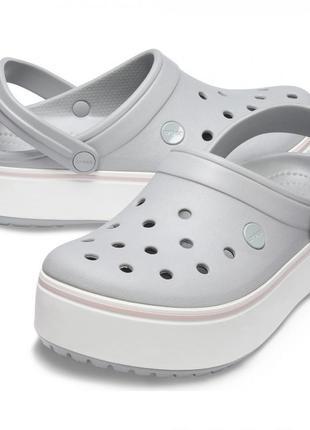 Кроксы crocband platform grey