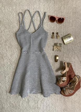 Актуальное летнее платье в рубчик №316max