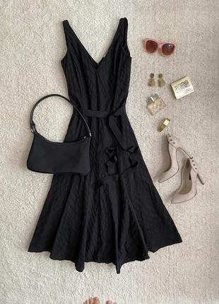 Винтажное платье миди в диагональный рубчик №317max