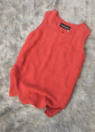 Свободная блуза кофточка топ трендового кирпичного оттенка
