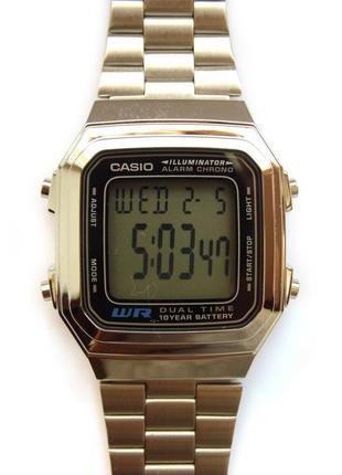 Casio a178w мужские часы оригинал wr будильник секундомер