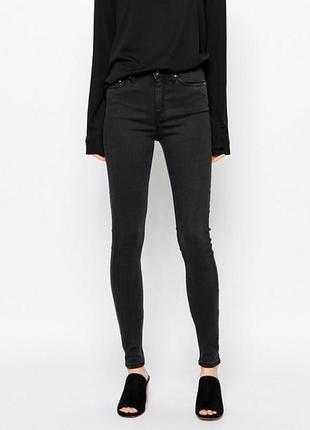 Плотні чорні джинси original denim