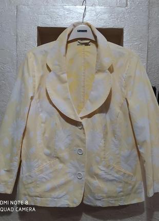Лёгкий пиджак хлопок в ромашках best connections