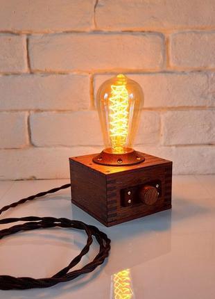 Настольная лампа - ночник, мербау  лофт стимпанк