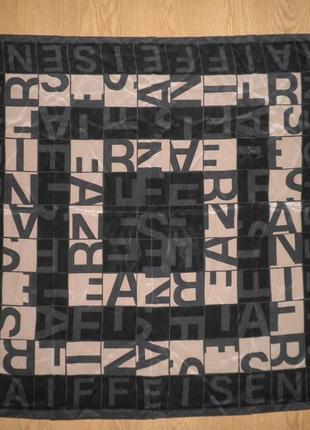 Яркий платок плотный шёлк креп де шин raiffeisen by patrick stoffel 88х84см качество