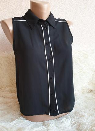 Черная блуза без рукав kira plastinina