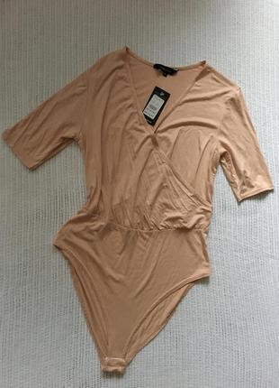 Боди/кофта (бежевого) цвета, фирмы new look, размер 14