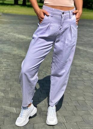 Модные женские джинсы с защипами