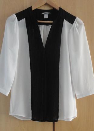 Супер брендовая белая блуза блузка рубашка