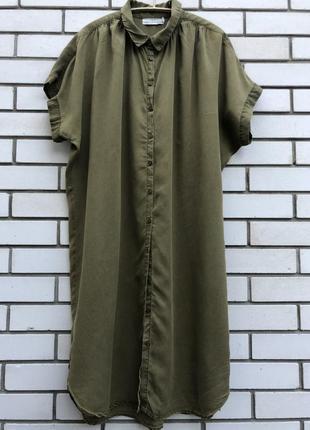 Платье туника цвета хаки h&m