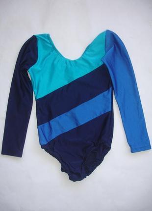Фирменный купальник трико для гимнастики девочке 8-10 лет идеал
