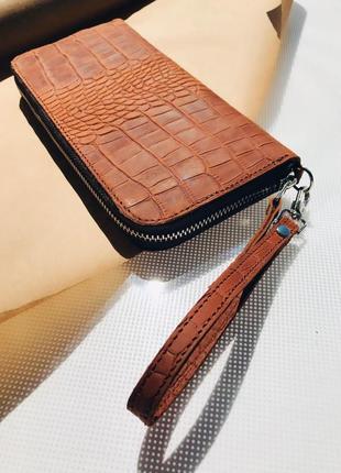 Кожаный кошелёк  кожаное портмоне коричневый кошелёк
